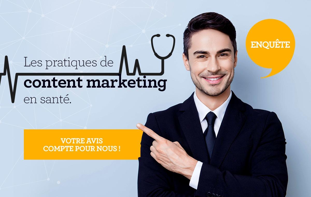 enquête sur le content marketing en santé